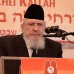 Harav-Boruch-Mordechai-Ezrachi,-Rosh-HaYeshiva-Ateres-Yisroel,-Yerusholayim-giving-the-final-shiur-iyun-at-the-16th-Annual-Agudas-Yisroel-Yarchei-Kallah