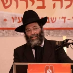 Harav-Gershon-Meltzer,-giving-final-halacha-shiur-of-the-16th-Aguda-Yarchei-Kallah