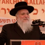 Harav-Matisyahu-Deutsch,-Rav,-Ramat-Shlomo-giving-a-shiur-halacha-on-Mitzvas-Tzrichos-Kavana-at-the-16th-Agudas-Yisroel-Yaechei-Kallah